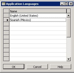 NAV 2009 Select Applicatoin Languages